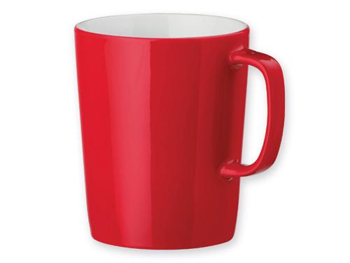 Raudoni reklaminiai puodeliai