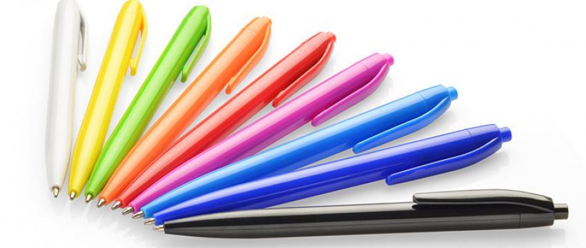 Reklaminiai plastikiniai tušinukai