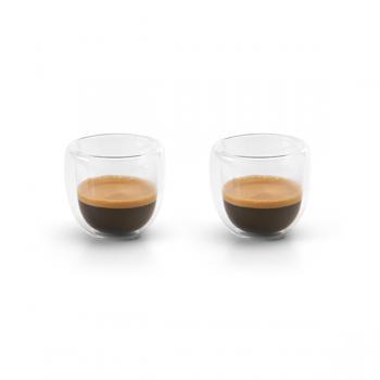Stiklo puodeliai kavai