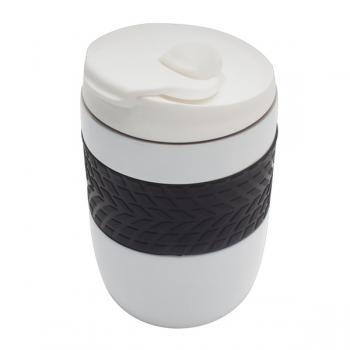 Baltas termo puodelis