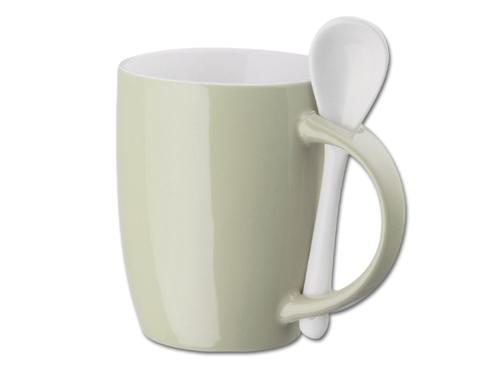 Biežinis puodelis su šaukšteliu