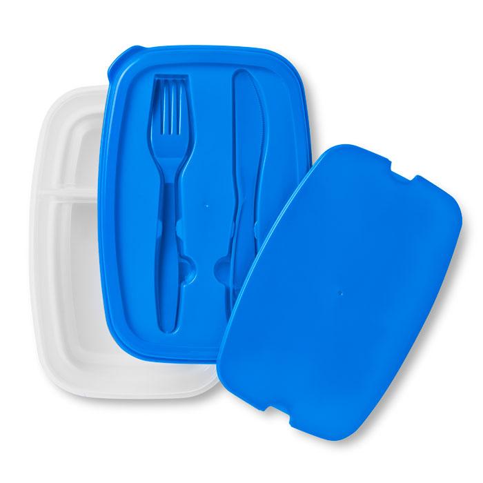 Dėžutė maistui su įrankiais