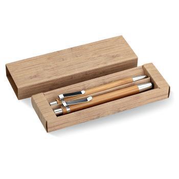 Medinių rašiklių rinkinys