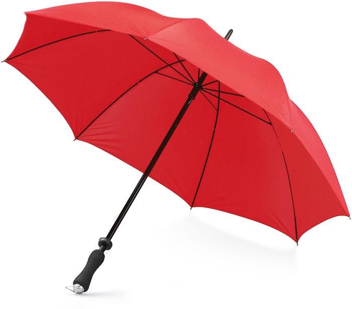 Raudonas reklaminis skėtis