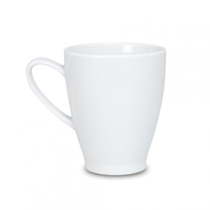 Reklaminis porceliano puodelis