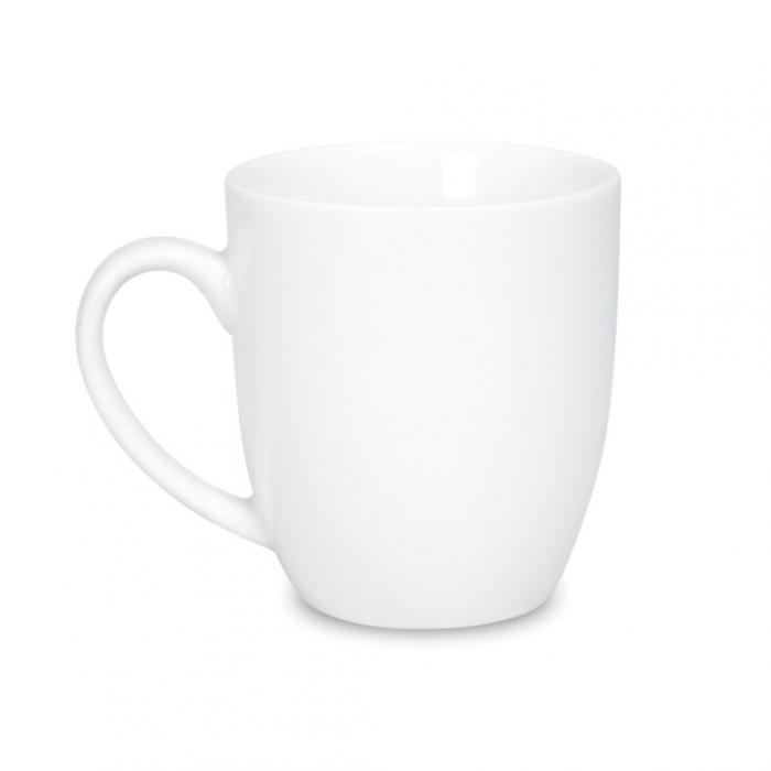 Porceliano puodelis su logo
