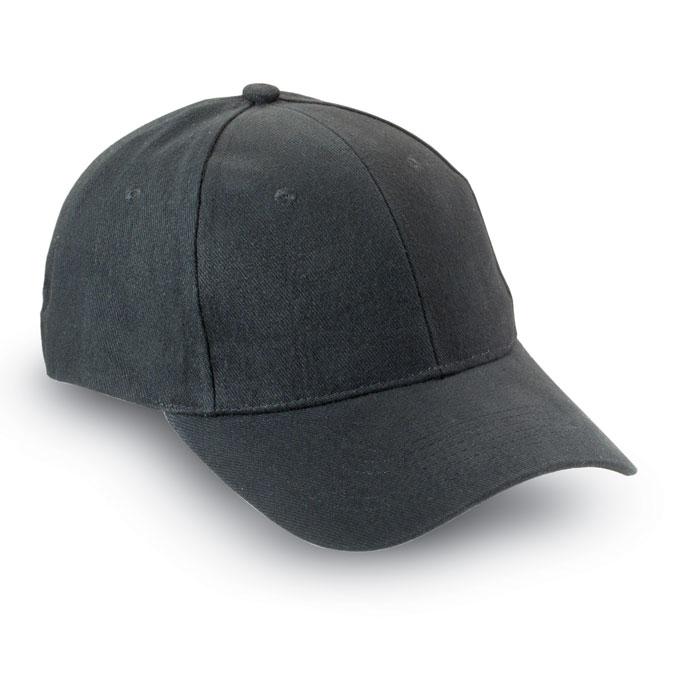 Juoda reklaminė kepurėlė