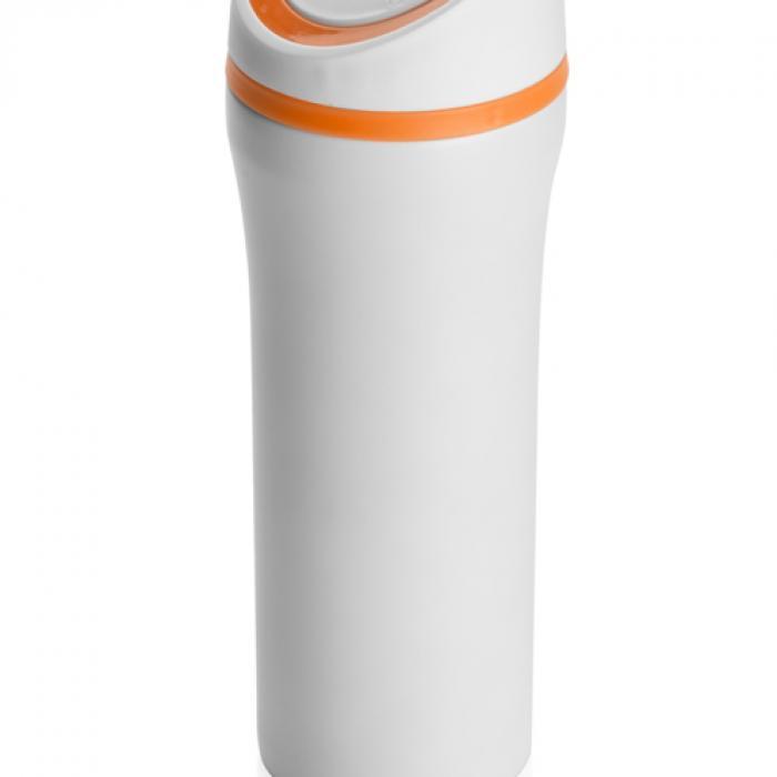 Oranžinis termo puodelis