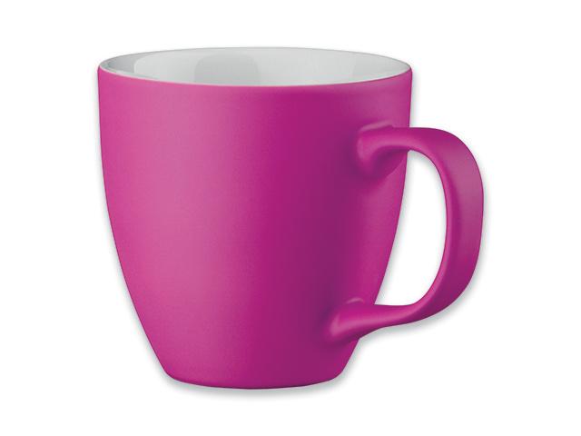 Rožinis porceliano puodelis